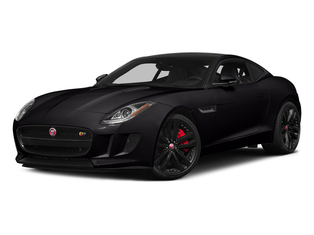 Ultimate Black Metallic 2015 Jaguar F-TYPE Pictures F-TYPE Coupe 2D S V6 photos front view