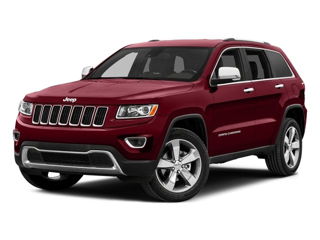 Deep Cherry Red Crystal Pearlcoat 2015 Jeep Grand Cherokee Pictures Grand Cherokee Utility 4D Laredo 2WD photos front view