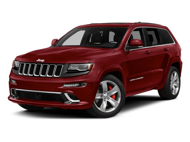 Deep Cherry Red Crystal Pearlcoat 2015 Jeep Grand Cherokee Pictures Grand Cherokee Utility 4D SRT-8 4WD photos front view