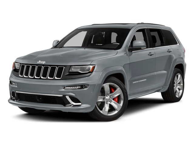 Billet Silver Metallic Clearcoat 2015 Jeep Grand Cherokee Pictures Grand Cherokee Utility 4D SRT-8 4WD photos front view