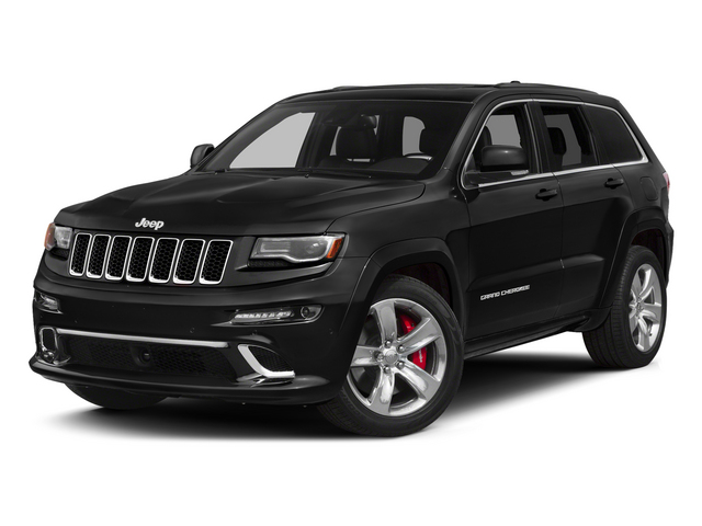 Brilliant Black Crystal Pearlcoat 2015 Jeep Grand Cherokee Pictures Grand Cherokee Utility 4D SRT-8 4WD photos front view