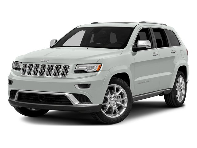 Bright White Clearcoat 2015 Jeep Grand Cherokee Pictures Grand Cherokee Utility 4D Summit Diesel 4WD photos front view