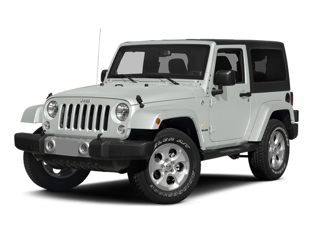 Bright White Clearcoat 2015 Jeep Wrangler Pictures Wrangler Utility 2D Sahara 4WD V6 photos front view
