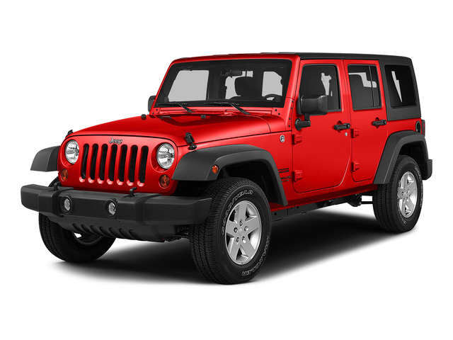 Firecracker Red Clear Coat 2015 Jeep Wrangler Unlimited Pictures Wrangler Unlimited Utility 4D Unlimited Sport 4WD V6 photos front view