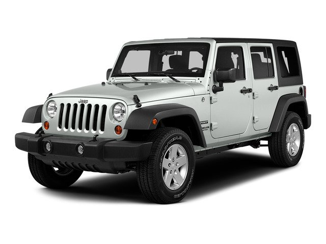 Bright White Clearcoat 2015 Jeep Wrangler Unlimited Pictures Wrangler Unlimited Utility 4D Unlimited Sport 4WD V6 photos front view