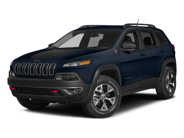 True Blue Pearlcoat 2015 Jeep Cherokee Pictures Cherokee Utility 4D Trailhawk 4WD photos front view