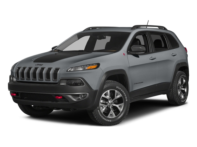Billet Silver Metallic Clearcoat 2015 Jeep Cherokee Pictures Cherokee Utility 4D Trailhawk 4WD photos front view