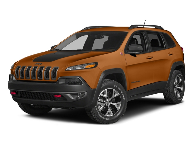 Mango Tango Pearlcoat 2015 Jeep Cherokee Pictures Cherokee Utility 4D Trailhawk 4WD photos front view