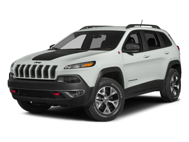 Bright White Clearcoat 2015 Jeep Cherokee Pictures Cherokee Utility 4D Trailhawk 4WD photos front view