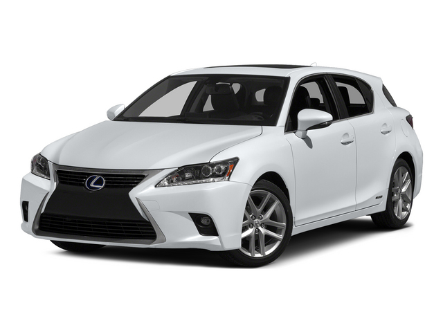 Ultra White w/Black Roof 2015 Lexus CT 200h Pictures CT 200h Hatchback 5D CT200h I4 Hybrid photos front view