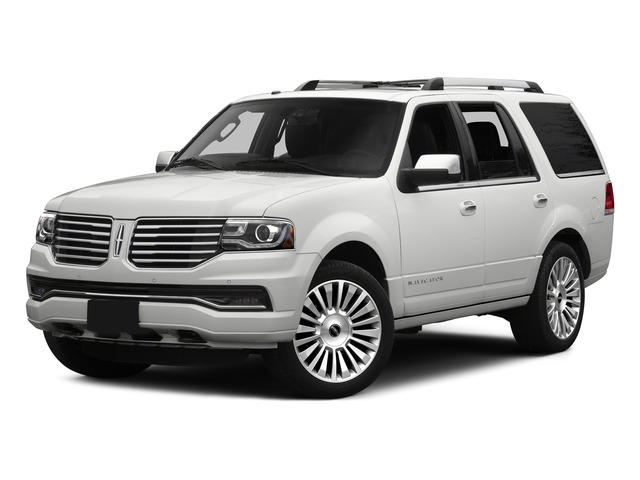 White Platinum Metallic Tri-Coat 2015 Lincoln Navigator Pictures Navigator Utility 4D Select 2WD V6 Turbo photos front view