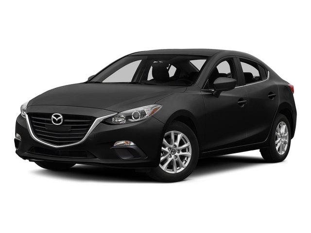 Jet Black Mica 2015 Mazda Mazda3 Pictures Mazda3 Sedan 4D i Sport I4 photos front view