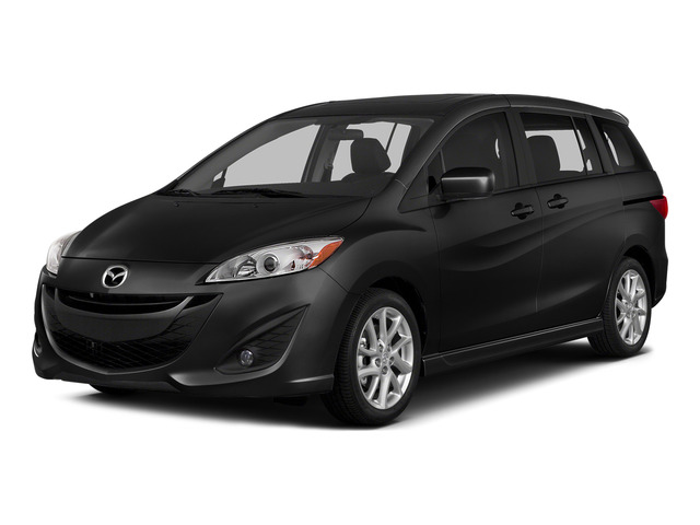 Jet Black Mica 2015 Mazda Mazda5 Pictures Mazda5 Wagon 5D GT I4 photos front view