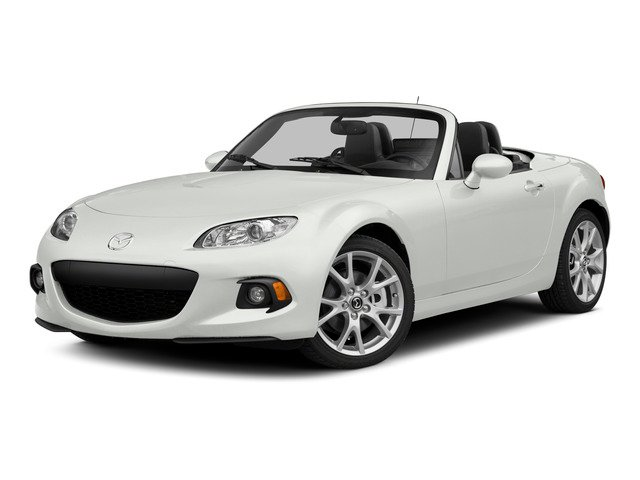 Crystal White Pearl 2015 Mazda MX-5 Miata Pictures MX-5 Miata Convertible 2D Club I4 photos front view