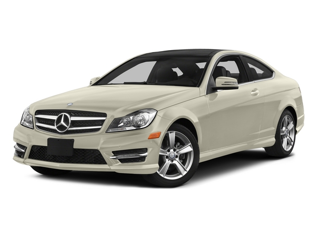 Diamond White Metallic 2015 Mercedes-Benz C-Class Pictures C-Class Coupe 2D C250 I4 Turbo photos front view