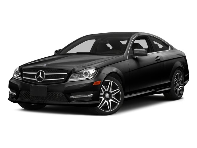 Magnetite Black Metallic 2015 Mercedes-Benz C-Class Pictures C-Class Coupe 2D C350 V6 photos front view