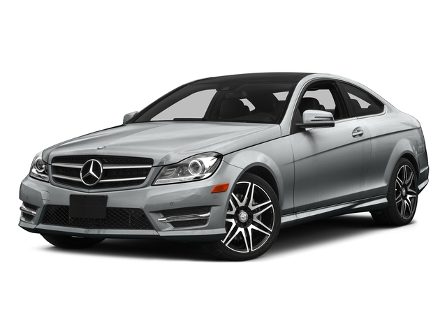 Iridium Silver Metallic 2015 Mercedes-Benz C-Class Pictures C-Class Coupe 2D C350 V6 photos front view