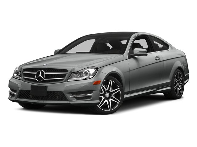 Palladium Silver Metallic 2015 Mercedes-Benz C-Class Pictures C-Class Coupe 2D C350 V6 photos front view