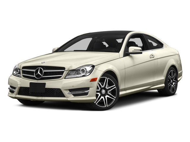 Diamond White Metallic 2015 Mercedes-Benz C-Class Pictures C-Class Coupe 2D C350 V6 photos front view