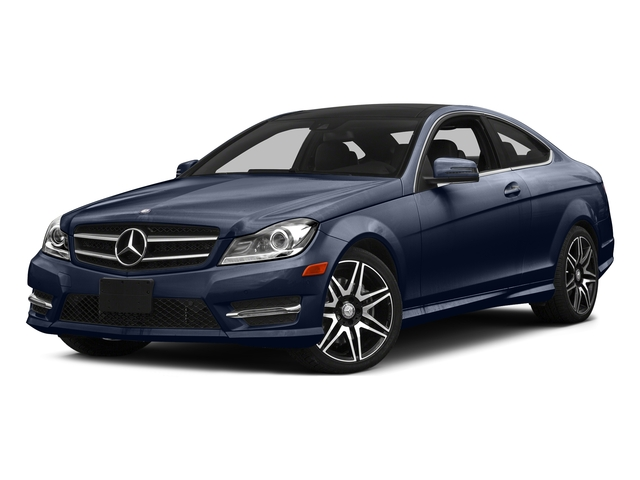 Lunar Blue Metallic 2015 Mercedes-Benz C-Class Pictures C-Class Coupe 2D C350 V6 photos front view