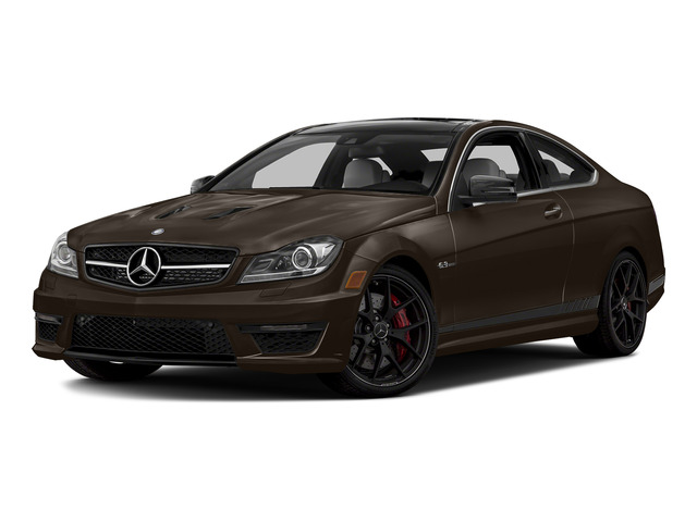 Dolomite Brown Metallic 2015 Mercedes-Benz C-Class Pictures C-Class Coupe 2D C63 AMG V8 photos front view