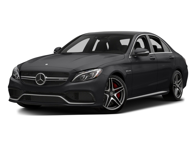 Black 2015 Mercedes-Benz C-Class Pictures C-Class Sedan 4D C63 AMG S V8 Turbo photos front view