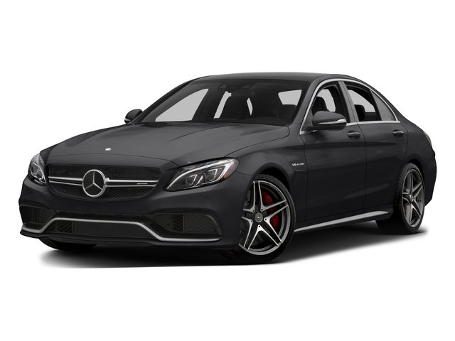 Black 2015 Mercedes-Benz C-Class Pictures C-Class Sedan 4D C63 AMG V8 Turbo photos front view