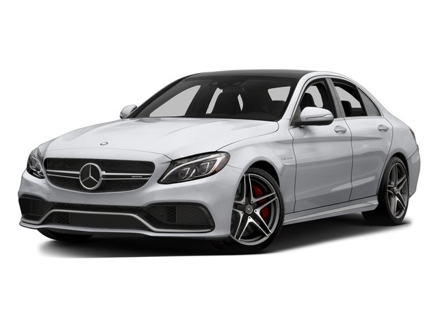 Polar White 2015 Mercedes-Benz C-Class Pictures C-Class Sedan 4D C63 AMG S V8 Turbo photos front view