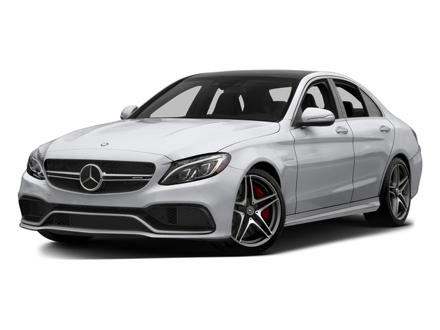 Polar White 2015 Mercedes-Benz C-Class Pictures C-Class Sedan 4D C63 AMG V8 Turbo photos front view
