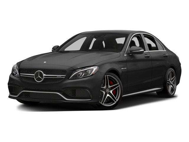 Obsidian Black Metallic 2015 Mercedes-Benz C-Class Pictures C-Class Sedan 4D C63 AMG V8 Turbo photos front view