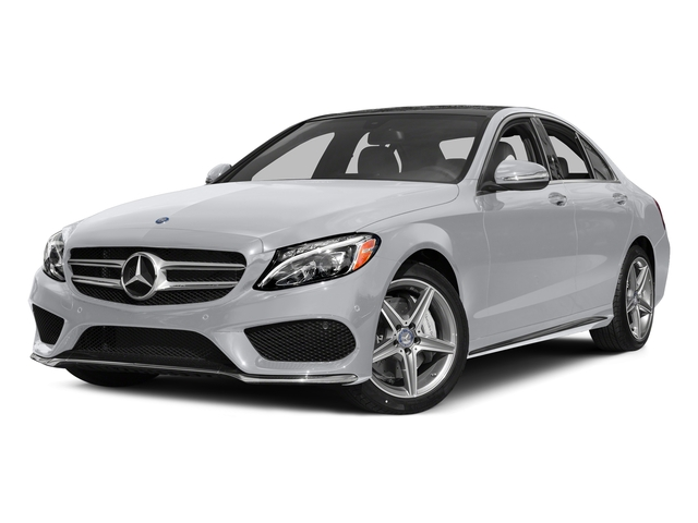 Polar White 2015 Mercedes-Benz C-Class Pictures C-Class Sedan 4D C400 AWD V6 Turbo photos front view