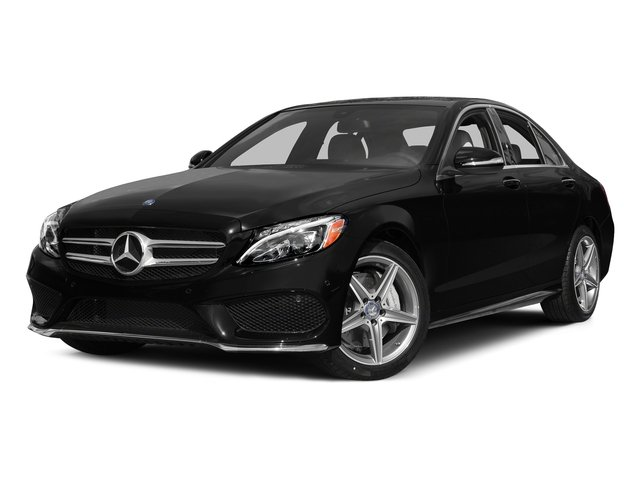 Obsidian Black Metallic 2015 Mercedes-Benz C-Class Pictures C-Class Sedan 4D C400 AWD V6 Turbo photos front view