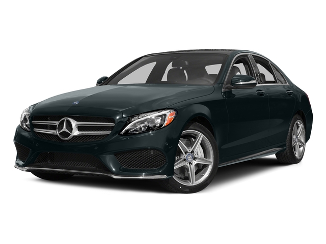Steel Gray Metallic 2015 Mercedes-Benz C-Class Pictures C-Class Sedan 4D C400 AWD V6 Turbo photos front view