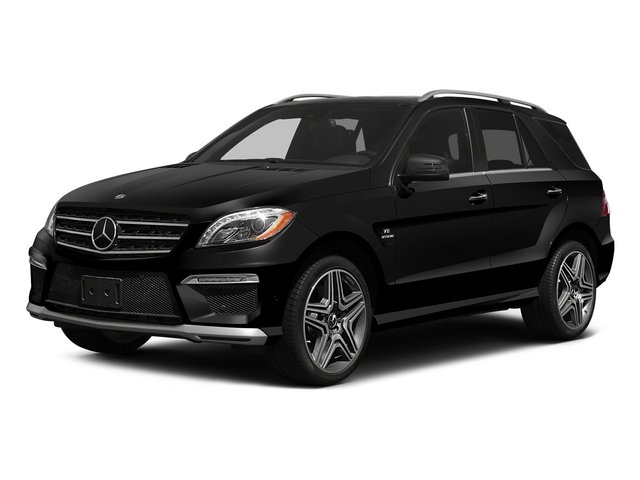 Obsidian Black Metallic 2015 Mercedes-Benz M-Class Pictures M-Class Utility 4D ML63 AMG AWD V8 photos front view