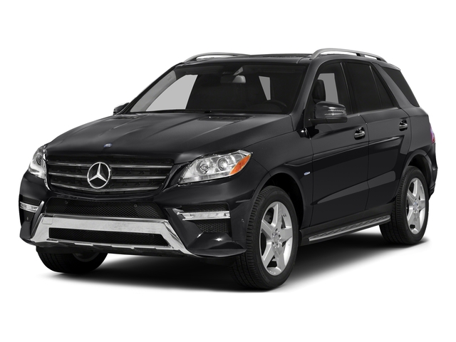 Black 2015 Mercedes-Benz M-Class Pictures M-Class Utility 4D ML400 AWD V6 Turbo photos front view