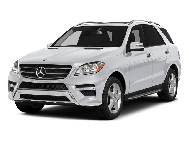 Polar White 2015 Mercedes-Benz M-Class Pictures M-Class Utility 4D ML400 AWD V6 Turbo photos front view