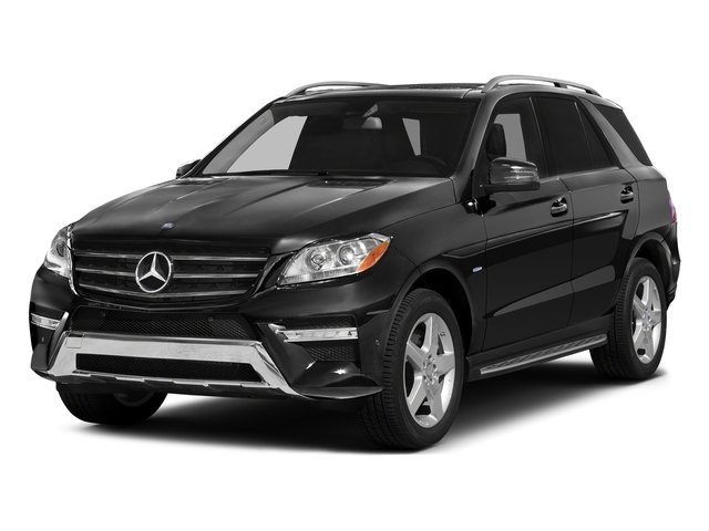 Obsidian Black Metallic 2015 Mercedes-Benz M-Class Pictures M-Class Utility 4D ML400 AWD V6 Turbo photos front view