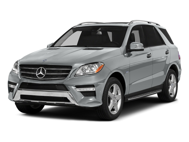 Iridium Silver Metallic 2015 Mercedes-Benz M-Class Pictures M-Class Utility 4D ML400 AWD V6 Turbo photos front view