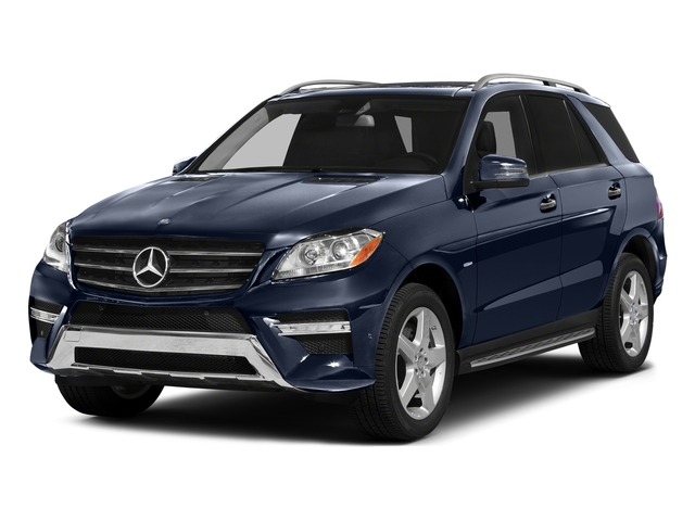 Lunar Blue Metallic 2015 Mercedes-Benz M-Class Pictures M-Class Utility 4D ML400 AWD V6 Turbo photos front view