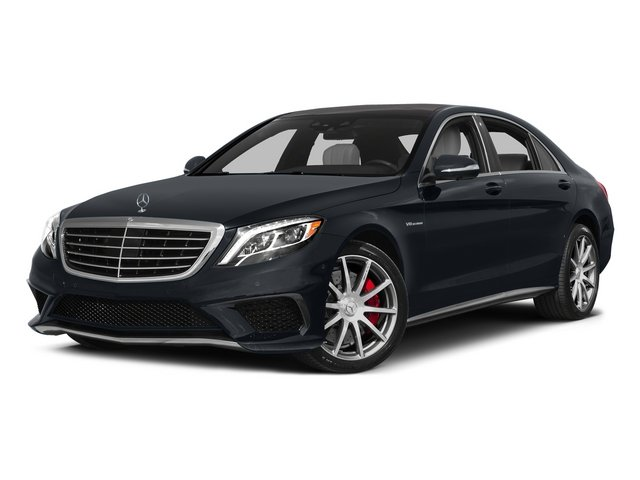 Anthracite Blue Metallic 2015 Mercedes-Benz S-Class Pictures S-Class Sedan 4D S63 AMG AWD V8 Turbo photos front view