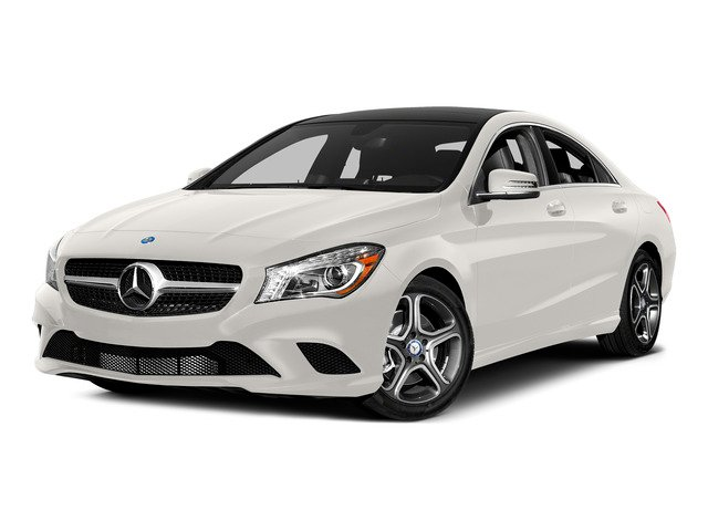 Cirrus White 2015 Mercedes-Benz CLA-Class Pictures CLA-Class Sedan 4D CLA250 AWD I4 Turbo photos front view