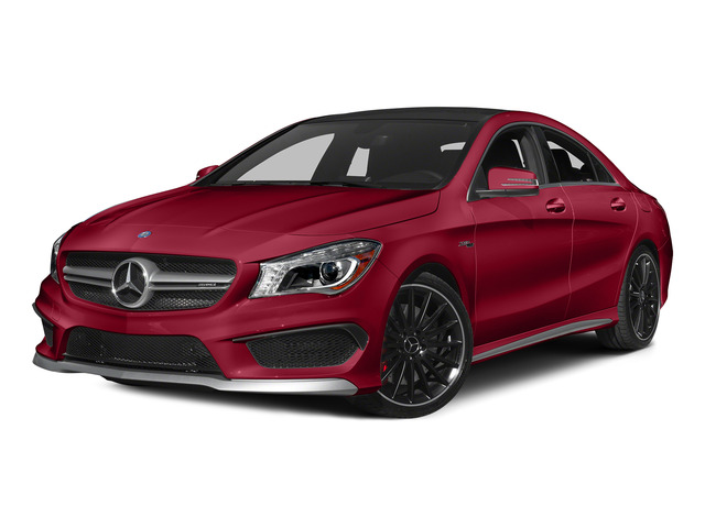 Jupiter Red 2015 Mercedes-Benz CLA-Class Pictures CLA-Class Sedan 4D CLA45 AMG AWD I4 Turbo photos front view