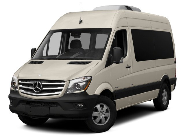 Stone Gray 2015 Mercedes-Benz Sprinter Passenger Vans Pictures Sprinter Passenger Vans Passenger Van High Roof 4WD photos front view