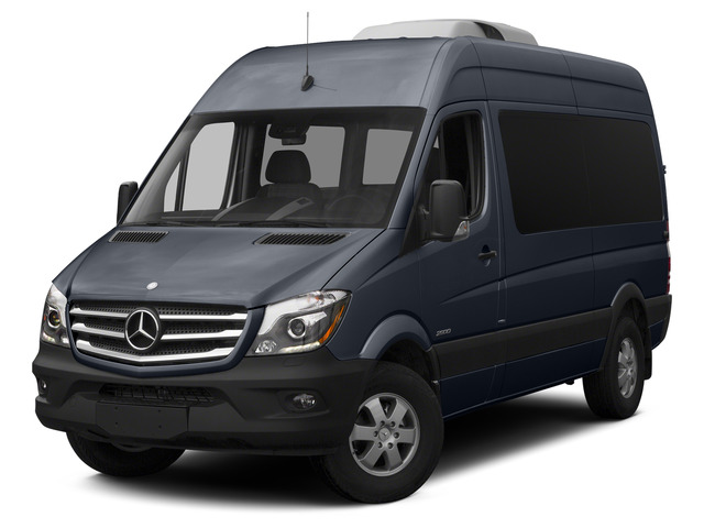 Graphite Gray 2015 Mercedes-Benz Sprinter Passenger Vans Pictures Sprinter Passenger Vans Passenger Van High Roof 4WD photos front view