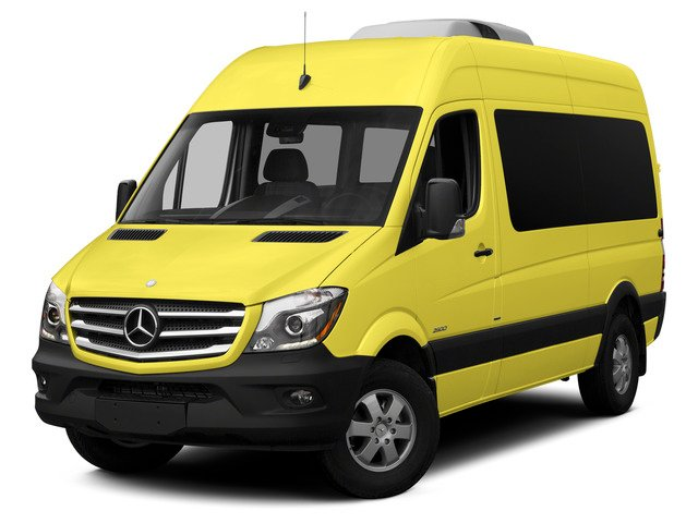 Calcite Yellow 2015 Mercedes-Benz Sprinter Passenger Vans Pictures Sprinter Passenger Vans Passenger Van High Roof 4WD photos front view