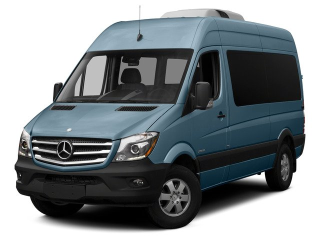 Brilliant Blue 2015 Mercedes-Benz Sprinter Passenger Vans Pictures Sprinter Passenger Vans Passenger Van High Roof 4WD photos front view