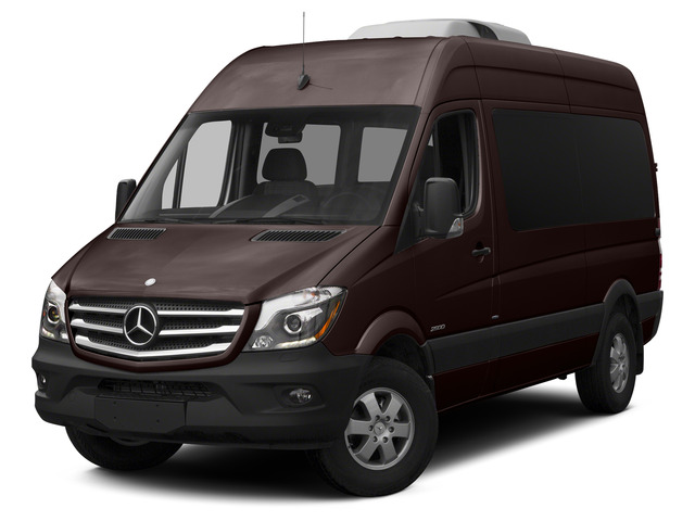Earth Brown 2015 Mercedes-Benz Sprinter Passenger Vans Pictures Sprinter Passenger Vans Passenger Van High Roof 4WD photos front view