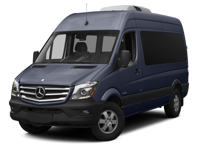 Black Blue 2015 Mercedes-Benz Sprinter Passenger Vans Pictures Sprinter Passenger Vans Passenger Van High Roof 4WD photos front view