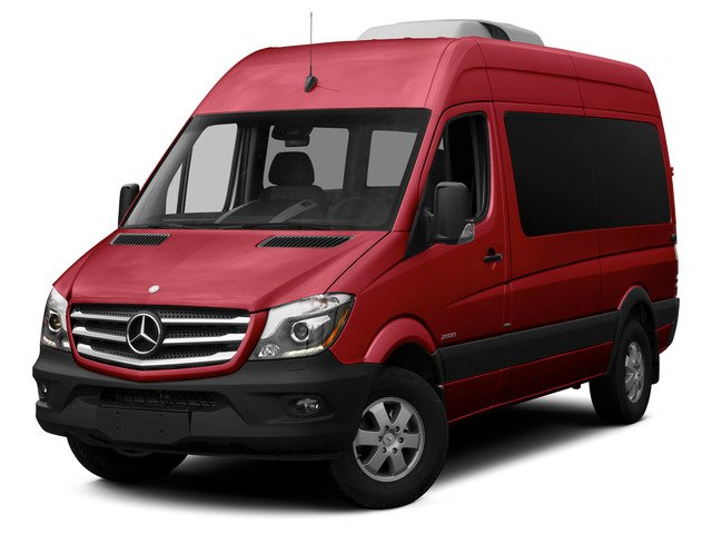 Jupiter Red 2015 Mercedes-Benz Sprinter Passenger Vans Pictures Sprinter Passenger Vans Passenger Van High Roof 4WD photos front view