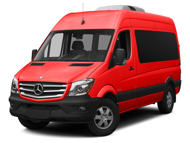 Coca Cola Red 2015 Mercedes-Benz Sprinter Passenger Vans Pictures Sprinter Passenger Vans Passenger Van High Roof 4WD photos front view